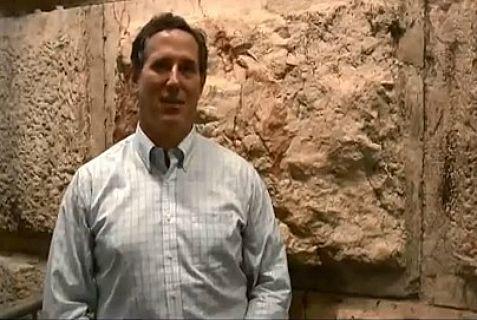Former presidential candidate Rick Santorum in Jerusalem.