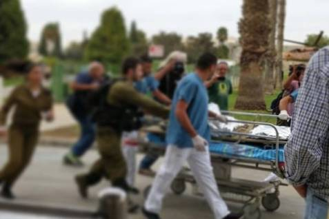 IDF soldiers are evacuated to a hospital after a terror attack.&lt;br /&gt;&lt;br /&gt;&lt;br /&gt;<br /> Photo credit: Smiley Hafuch / Rotter.net