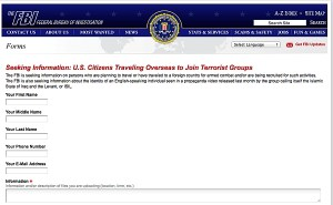 Tips form the FBI wants people to use to help identify terrorists.