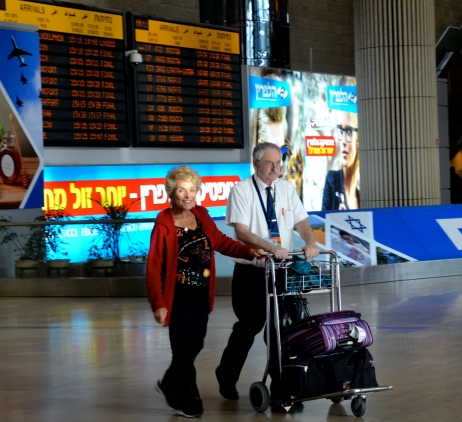 Arriving at Ben Gurion. Nov. 5, 2014.