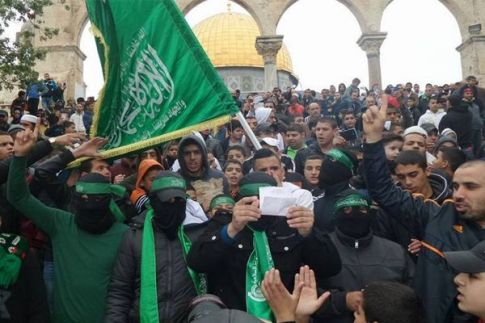 Hamas terrorists manage  to find their way to the Temple Mount in Jerusalem as well.