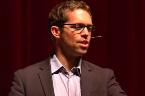 Jeremy Bird, working for Israeli campaign outfit V15, shown at Ted Talk, May 20, 2014.