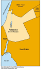San Remo Conference 1920, Map of British Mandate of Palestine after WW I