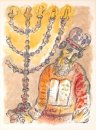 Aaron HaKohen with Menorah by Marc Chagall