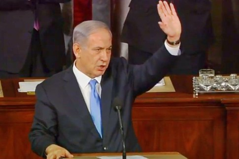 Prime Minister Binyamin Netanyahu addresses a joint session of the US Congress on March 3, 2015.