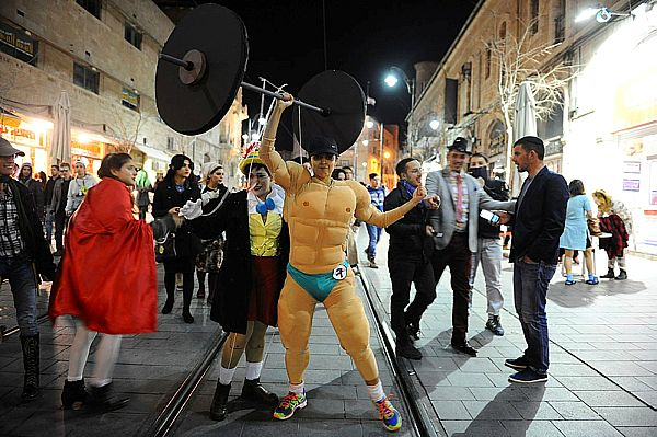 "Purim ""strongman."""