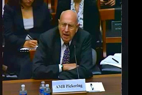 Amb. Thomas Pickering testified before the  House Armed Services Committee,  about Iran's nuclear program on June 19, 2014.