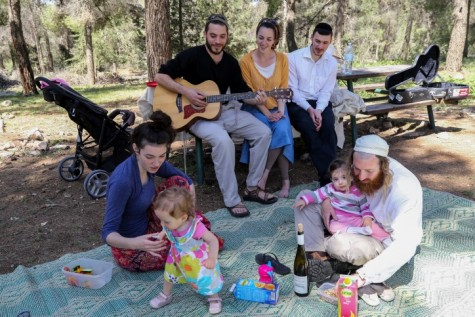 Picnicing in Gush Etzion.