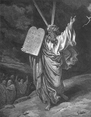 Gustave Dore's  Moses - 1865