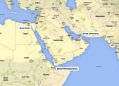 Map of Saudi Arabia and eastern Africa.