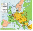 Map of Europe during WW I