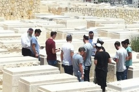 Tzvi Fishman at Cemetery of Mount of Olives