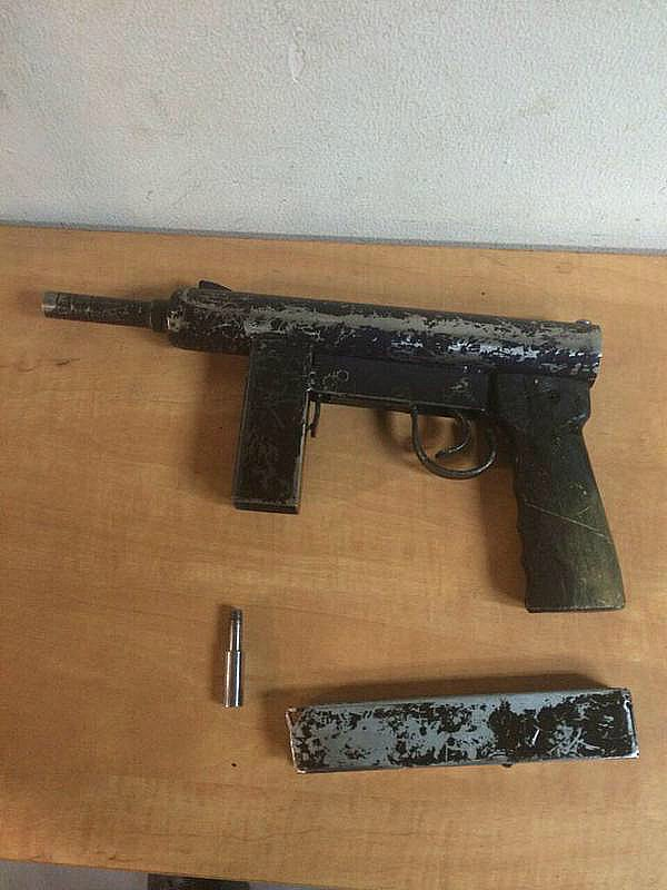 This is the automatic gun that a Jerusalem Arab teenager was carrying at a Jerusalem checkpoint.