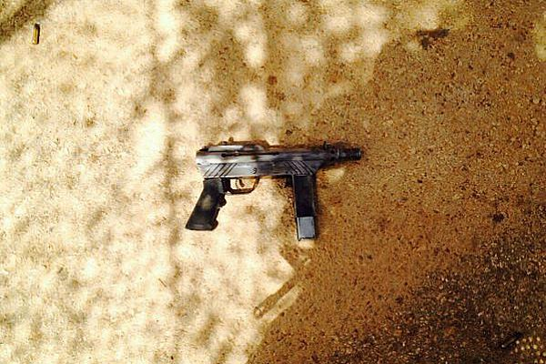 This is the handgun a terrorist used to try to murder Israeli Reservists soldiers Friday morning.