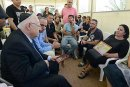 "President Rivlin at a ""shiva"" call to family of terror victim Danny Gonen."