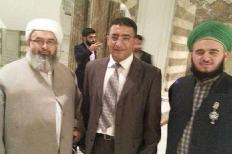 Mendi Safadi, Israeli Druze Likud adviser to Minister Ayoub Kara, with religious officials at an Iftar celebration in Turkey.