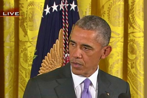 President Barack Obama gave a press conference to promote the Iran deal. July 15, 2015.
