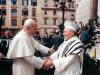 Pope John Paul II and Chief Rabbi of Rome Elio Toaff
