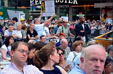 Stop Iran Now rally, 7th Ave. between 42nd and 41st St. July 22, 2015.