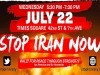 Stop Iran Now rally flyer