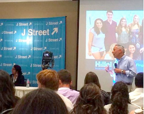 Hillel International CEO Eric Fingerhut at J Street U's Student Leadership Institute. Aug. 17, 2015