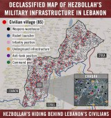 IDF Map of Hezbollah Positions in Lebanon