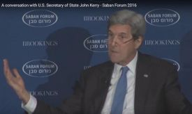 Outgoing US Secy of State John Kerry at the Saban Forum Dec 4 2016.