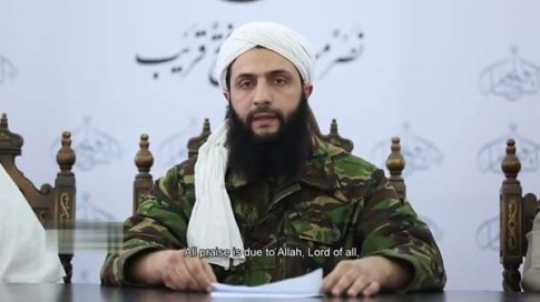 Abu Muhammad al-Julani making his announcement / Screenshot