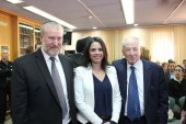 Ayelet Shaked with new AG Avichai Mandelblit (L) and outgoing AG Yehuda Weinstein  (Archive: February 2016)