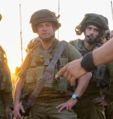 Brig. Gen. Ofer winter in Gaza during Operation Protective Edge, 2014.