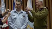 Brigadier General Zvika Fairaizen with former chief of staff Maj. Gen. Benny Gantz / IDF