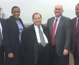 Congressman Jerry Nadler (c) in May / Photo credit: Jerry Nadler's Facebook page