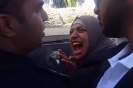 A crazed Muslim woman, upset that a Jew might drink from a public water fountain on the Temple Mount, guards it with her life.