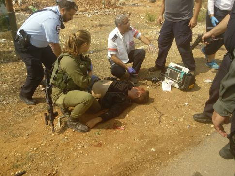 Terrorist killed in Kiryat Arba stabbing attack Friday. The Palestinian Authority says he was a victim.