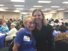 Debbie Wasserman Schultz with a constituent / Photo credit: Schultz Defeats Sanders' Facebook page