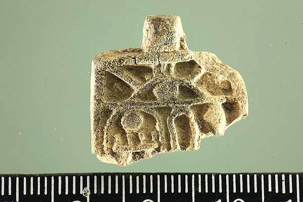 Egyptian amulet bearing the name of the Egyptian ruler, Thutmose III. – Credit: Zachi Dvira