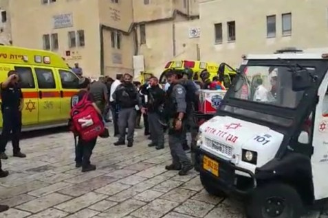 Emergency Rescue Crews at the Kotel
