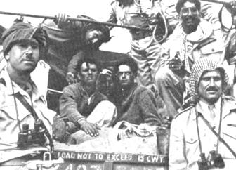 Jewish prisoners in Jordan, after the fall of Gush Etzion, May 1948 / Wikipedia commons