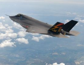 Handout picture of the F-35 stealth fighter jet in 2008 by Multimedia Production Analyst.