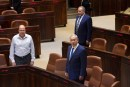 Moshe Yaalon, Avigdor Liberman and Benjamin Netanyahu in the Knesset