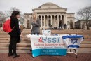 Students Supporting Israel Movement, outside Columbia University