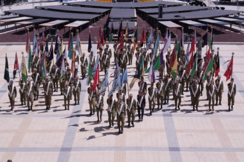 Rehearsals for the Israeli 68th Independence Day Ceremony