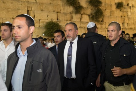 Avigdor Liberman at Kotel
