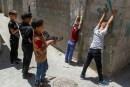 Gaza children play with their toy guns