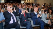 Netanyahu, Rivlin, Peres and VR glasses