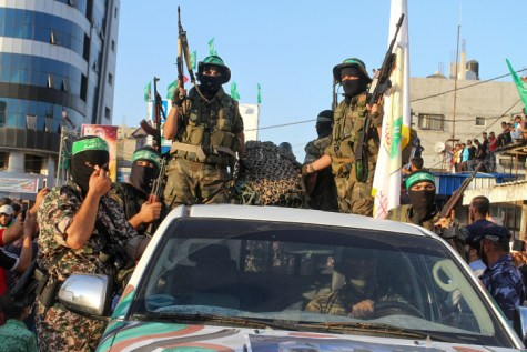 Hamas in Gaza with Pickup truck