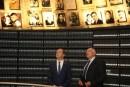 Russian President Dmitry Medvedev seen at the Yad Vashem Holocaust Memorial Museum in Jerusalem on November 11, 2016.
