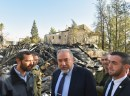 Israeli minister of Defense Avigdor Liberman visits in Halamish (Neve Tzuf), after the pyroterrorism attack. November 27, 2016.
