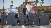 lEFTWING PROTEST BLOCK HIGHWAY IN gUSG eTZION