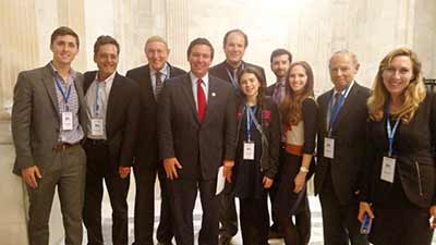 ZOA Florida constituents meeting with Florida congressman Ron DeSantis (fourth from left).